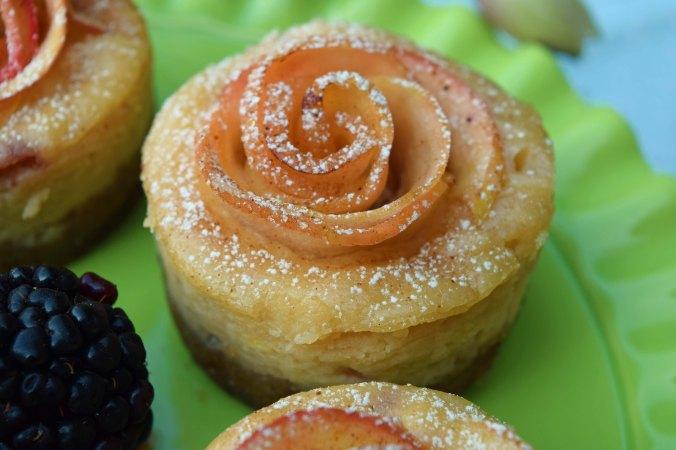 Apple rose closeup