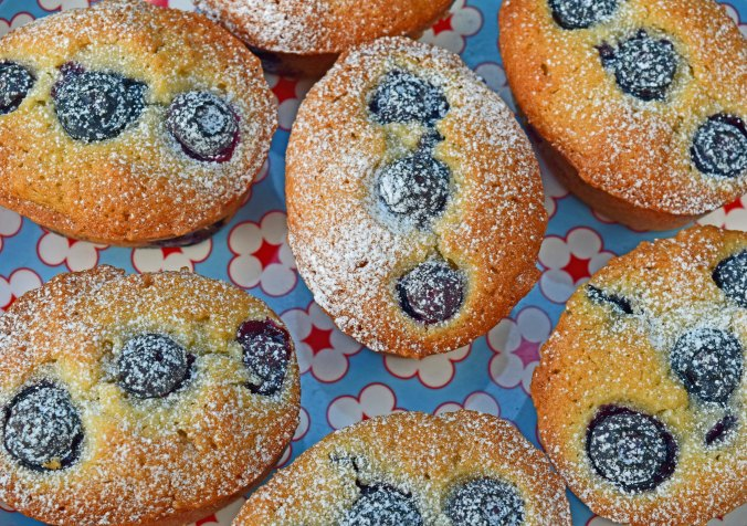 Blueberry Friands overhead