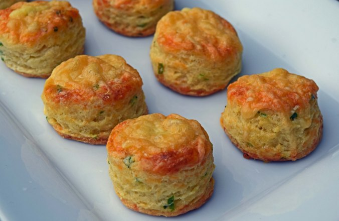 Cheese chive scones