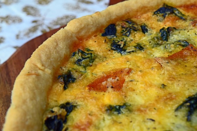 Butternut quiche close up