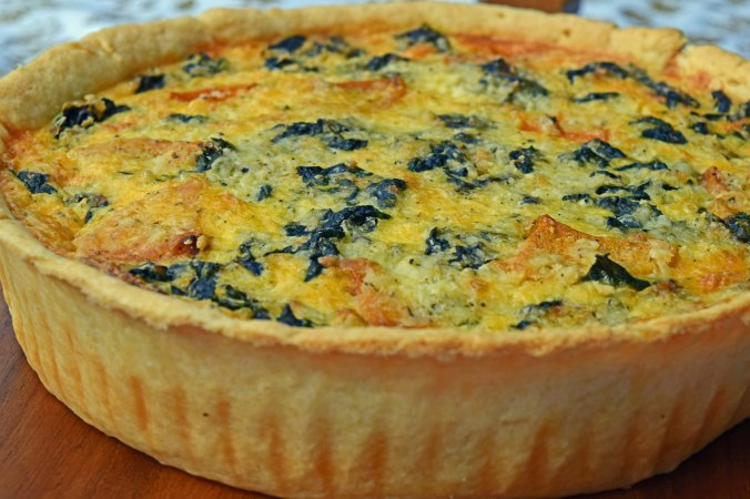 Butternut quiche side