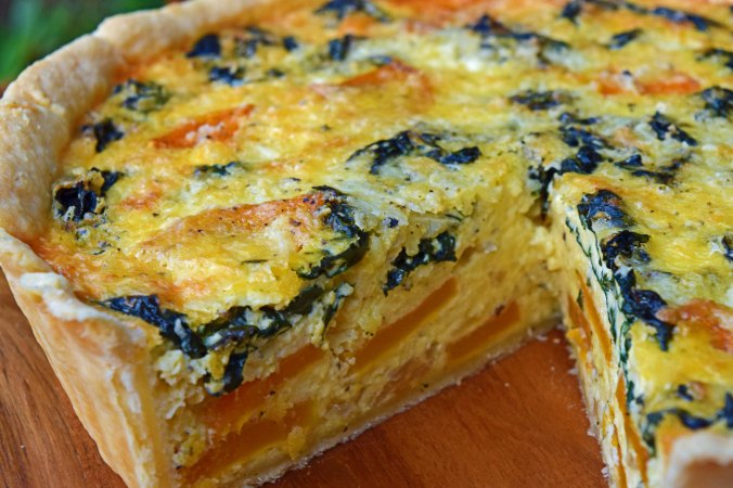 butternut quiche slice out