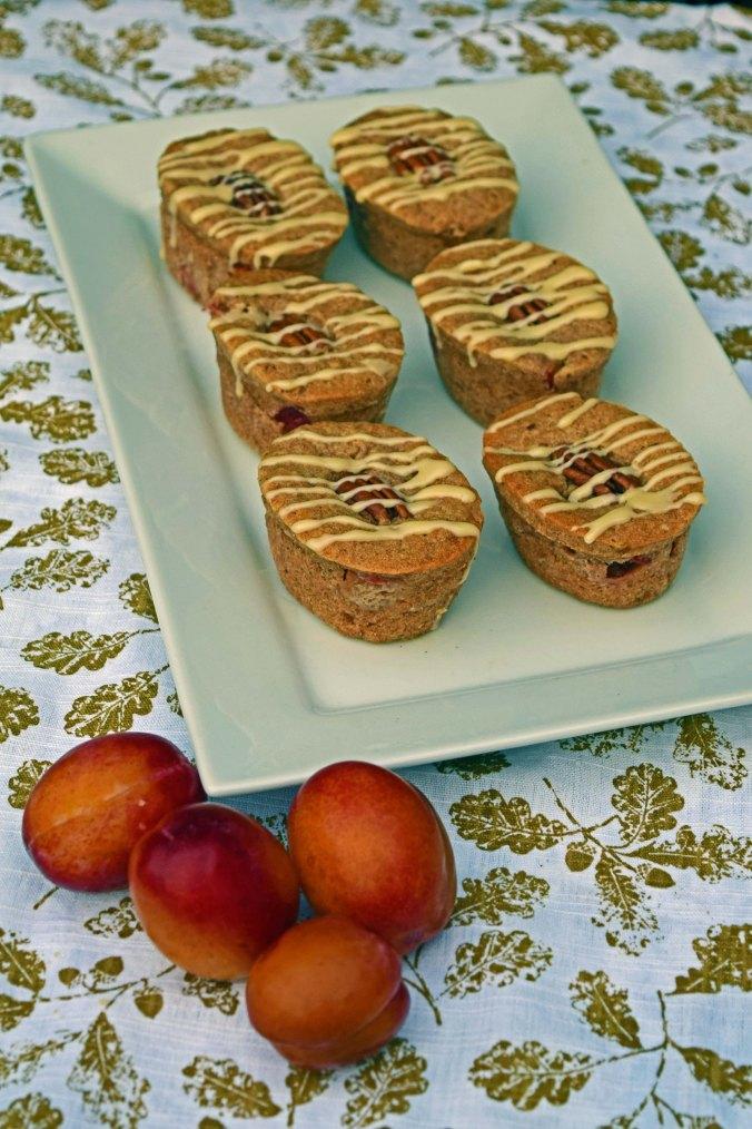 plum pecan friands