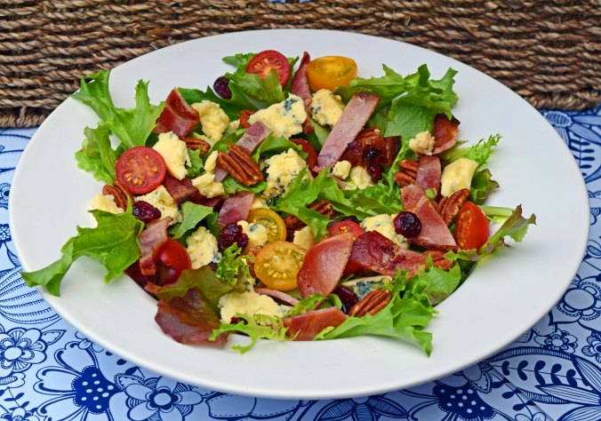 Stilton and bacon salad plate