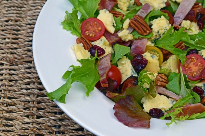 Stilton and bacon salad