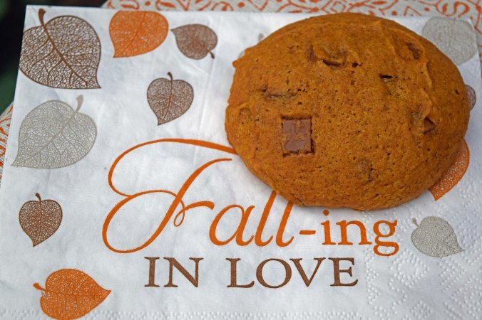 Pumpkin cookie napkin