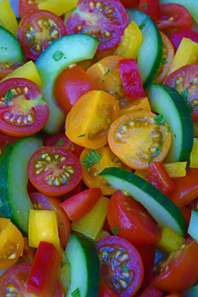 Minty tomato salad