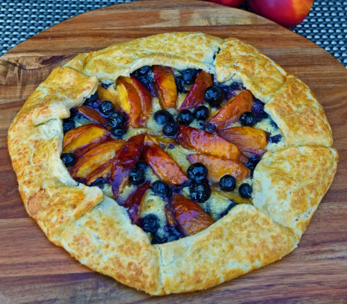 Nectarine blueberry crostata5