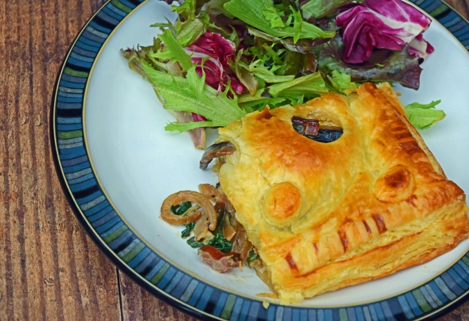 Swiss chard and mushroom pie4