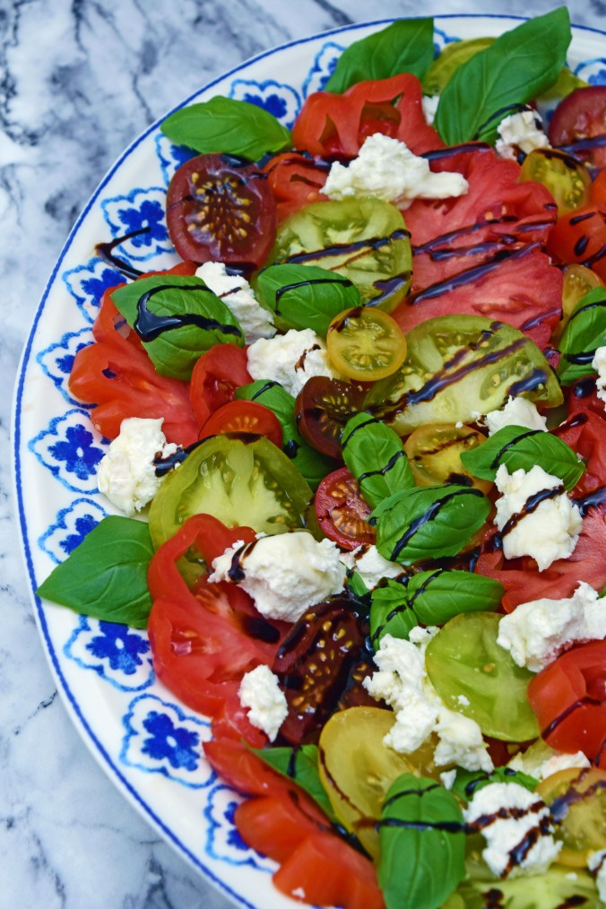 Heritage Tomato and Goats Cheese Salad