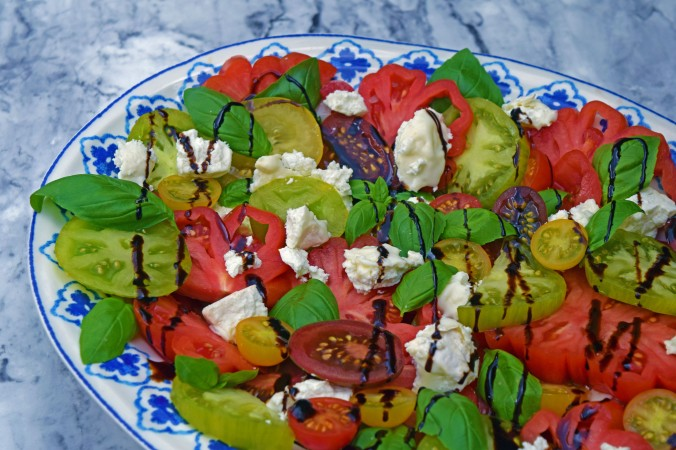 Tomato Goat Cheese Salad Balsamic